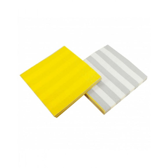 Dollyrockets Yellow Paper Napkins - 20pk