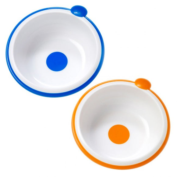 Dr Browns Blue Orange Bowls - Pack of 2