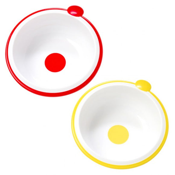 Dr Browns Red Yellow Bowls - Pack of 2
