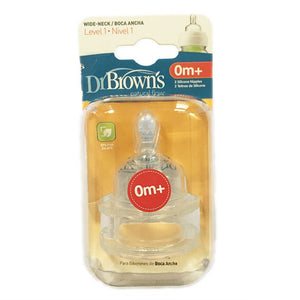 Dr Browns Wide Neck Options Bottle Level 1 Teats