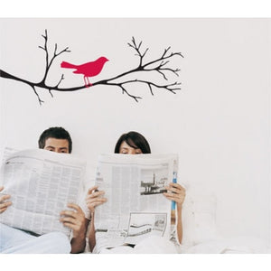 Bird on a Branch Removable Wall Decal as display