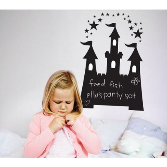 Jumbo Castle Chalkboard Removable Wall Decal as display
