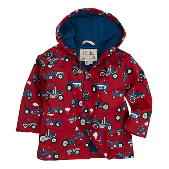 Hatley Farm Tractors Kids Raincoat