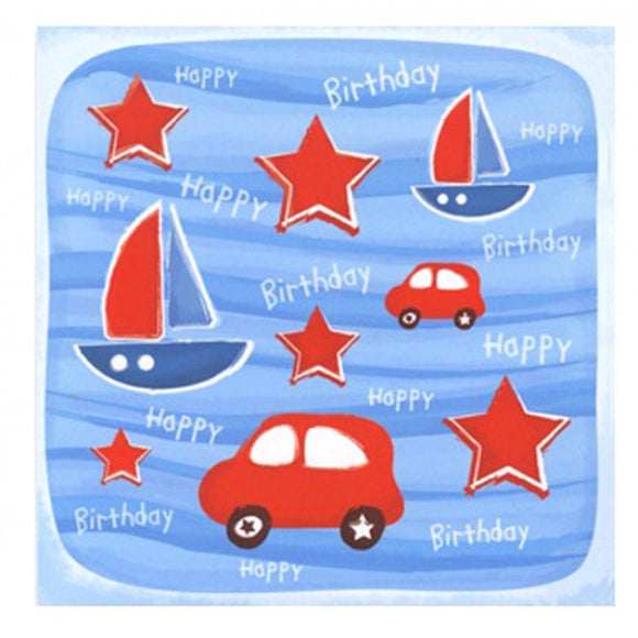 Little Chipipi Sailboat And Cars Greeting Card