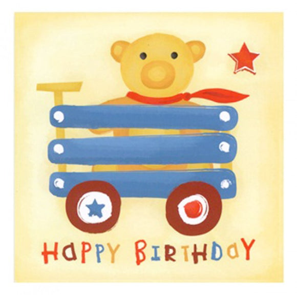 Little Chipipi Billy Cart Teddy Greeting Card