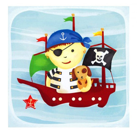 Little Chipipi Pirate Ship Greeting Card
