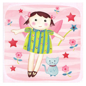 Little Chipipi Fairy And Stars Greeting Card