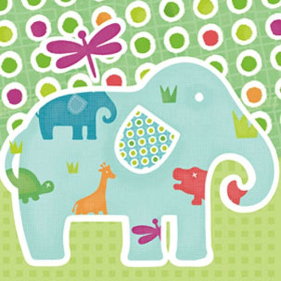 Little Chipipi Elephant Walk Eco Greeting Card