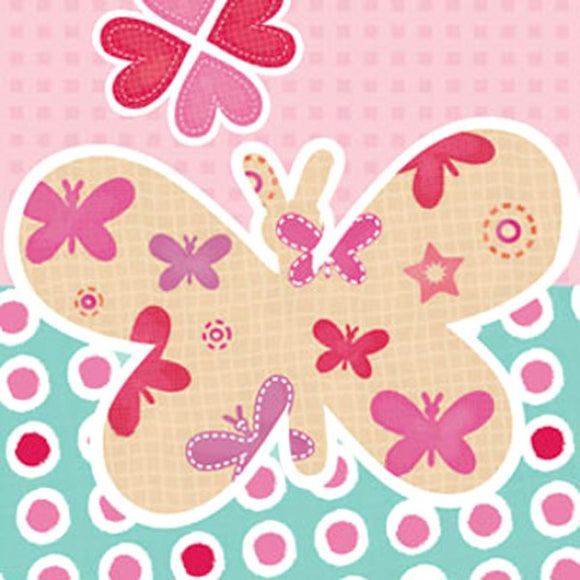 Little Chipipi Butterfly Eco Greeting Card