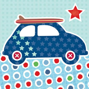 Little Chipipi Surf Buggy Eco Greeting Card