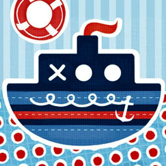 Little Chipipi Tug Boat Eco Greeting Card