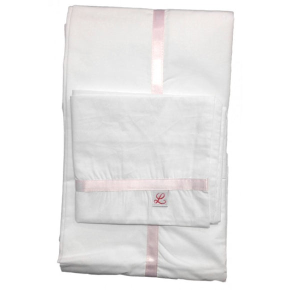 Pink Toile Cot Sheet Set