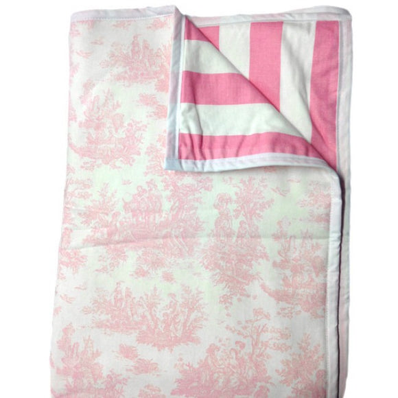 Pink Toile Cot Comforter