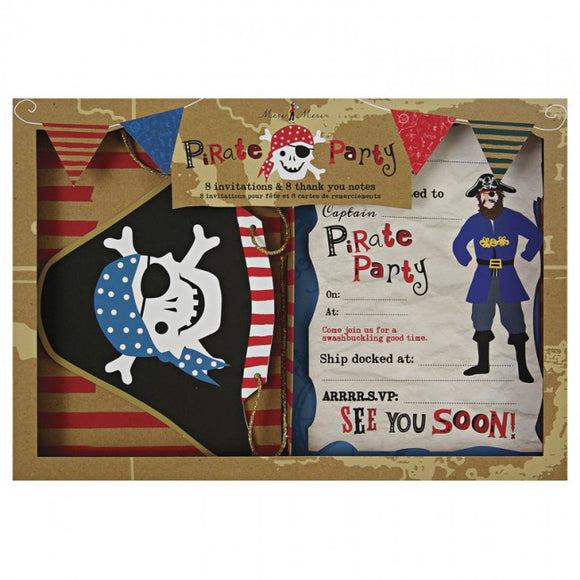 Meri Meri Ahoy There Pirate Invite and Thank You Set