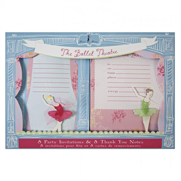 Meri Meri Little Dancers Invite and Thank You Set
