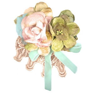 Miss Rose Sister Violet Tootsie Blue Ribbon Clip