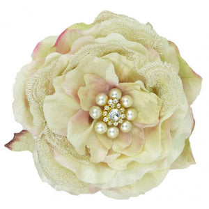 Miss Rose Sister Violet Silk Rose Diamante Clip