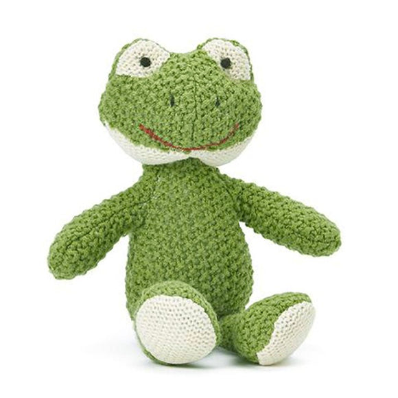 Nana Huchy Finny the Frog Knitted Baby Rattle