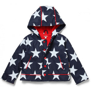 Penny Scallan Navy Star Raincoat - Front