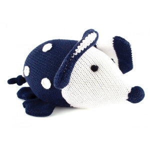 Penny Scallan Navy Cuddlie Knitted Mouse