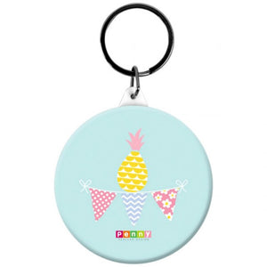 Penny Scallan Pineapple Bunting Button Bag Tag
