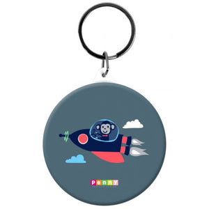 Penny Scallan Space Monkey Button Bag Tag