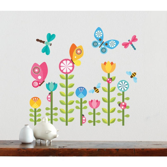 Petit Collage Butterflies Wall Decals