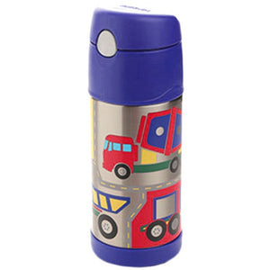 Thermos Funtainer 355ml Drink Bottle - Construction Vehicles