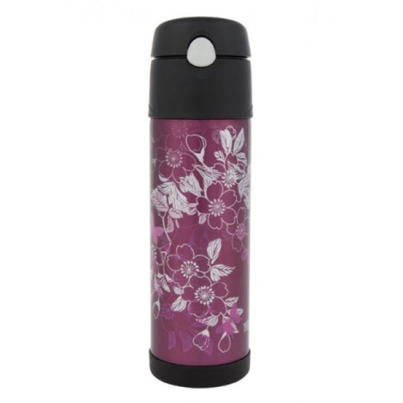 Thermos 530ml Intak Floral Magenta Hydration Bottle
