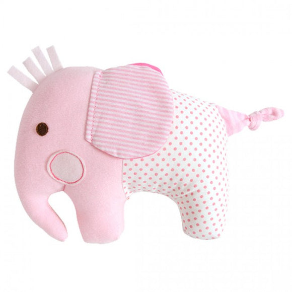 Tiger Tribe Softie Rattle - Pink Elephant
