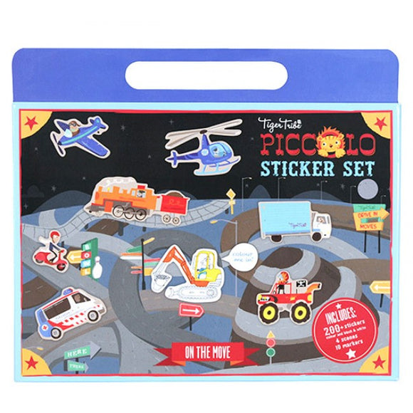 Tiger Tribe Piccolo Sticker Set - On The Move