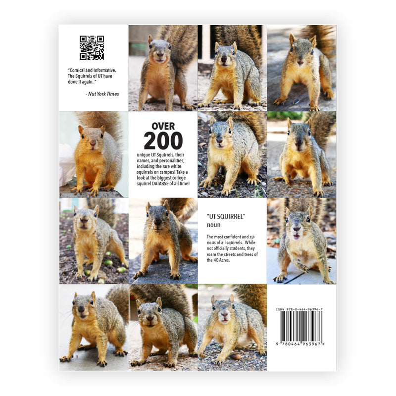 Back Cover of Squirrels of UT Austin Yearbook