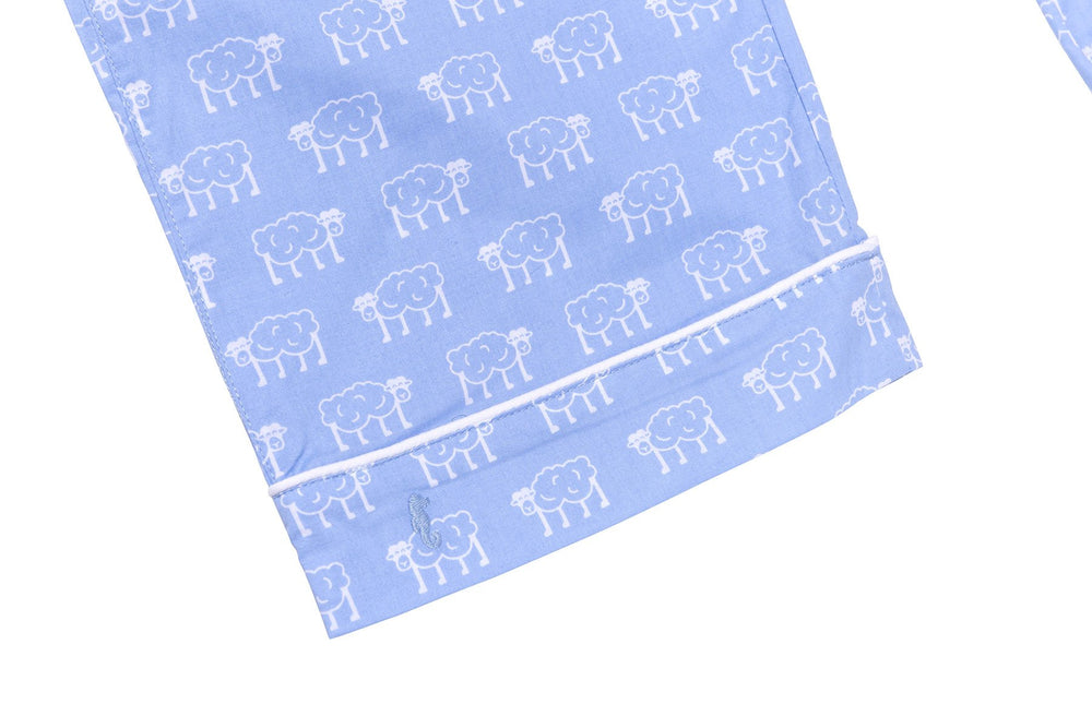 Sapphire Sheep White Piping