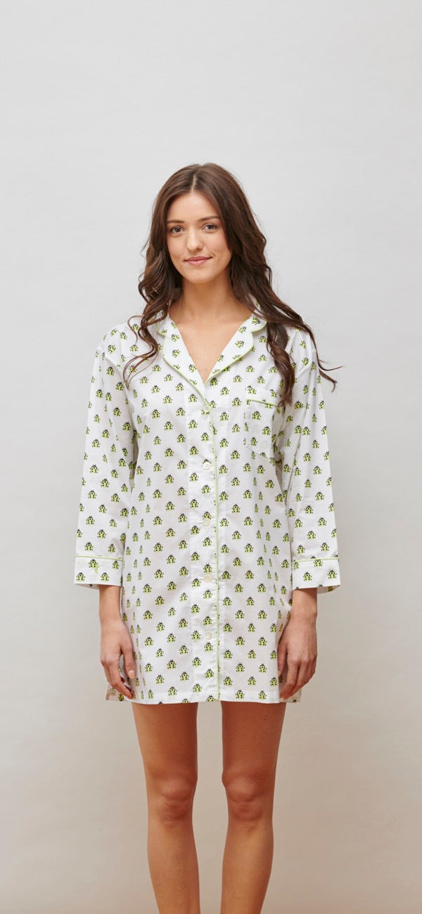 Lorient Block Print Nightshirt - New