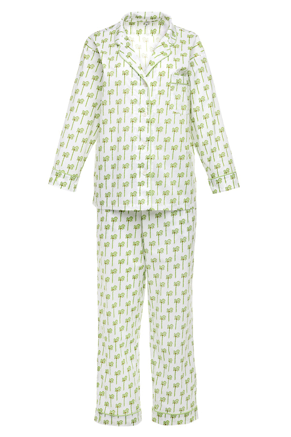 Lorient Block Print Long Pajama Set - New