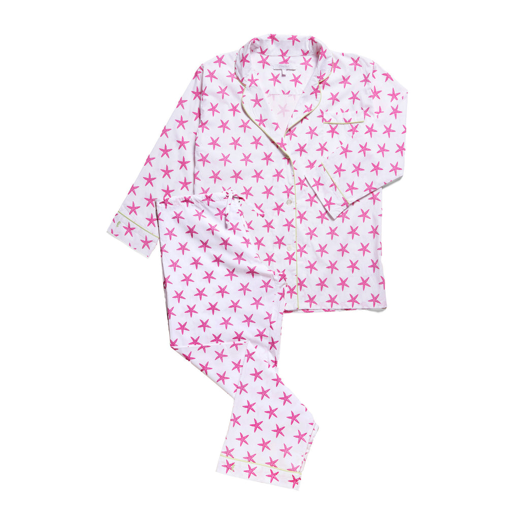 Lorient Block Print Long Pajama Set / Size XS - Sale