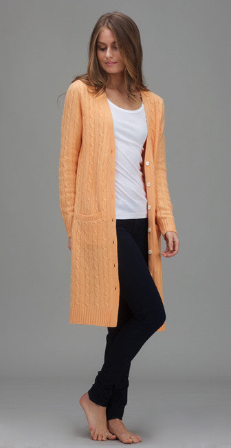 Classic Long Cable Sweater
