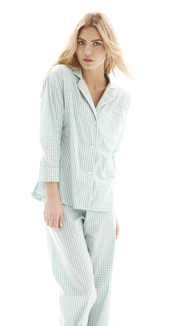 Maya Check Long Pajama Set
