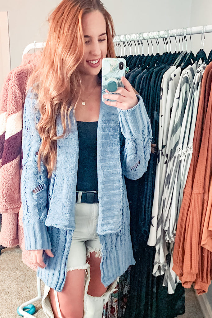Leo Distressed Cardigan