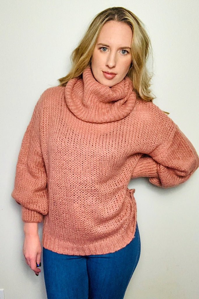 By the Fire Cowl Neck Sweater
