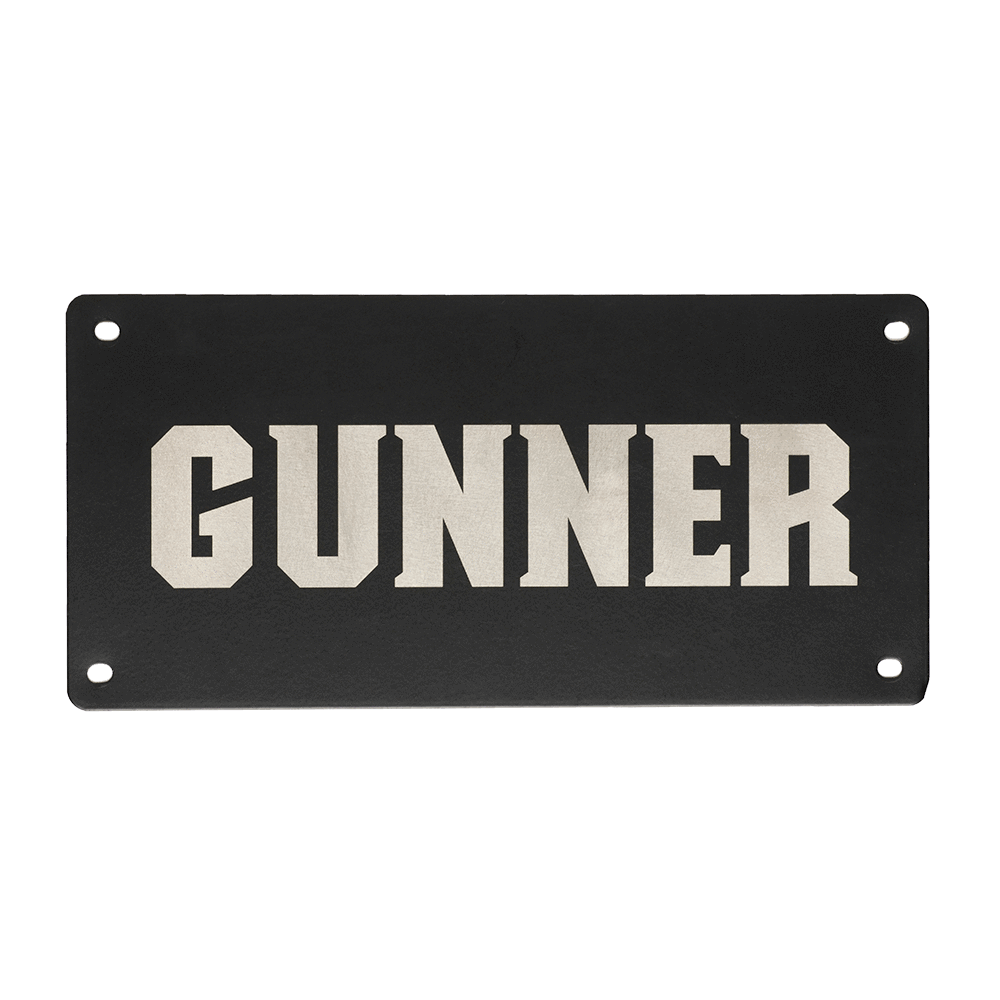 Personalized Name Plate Dog Crate Accessories Gunner Kennels