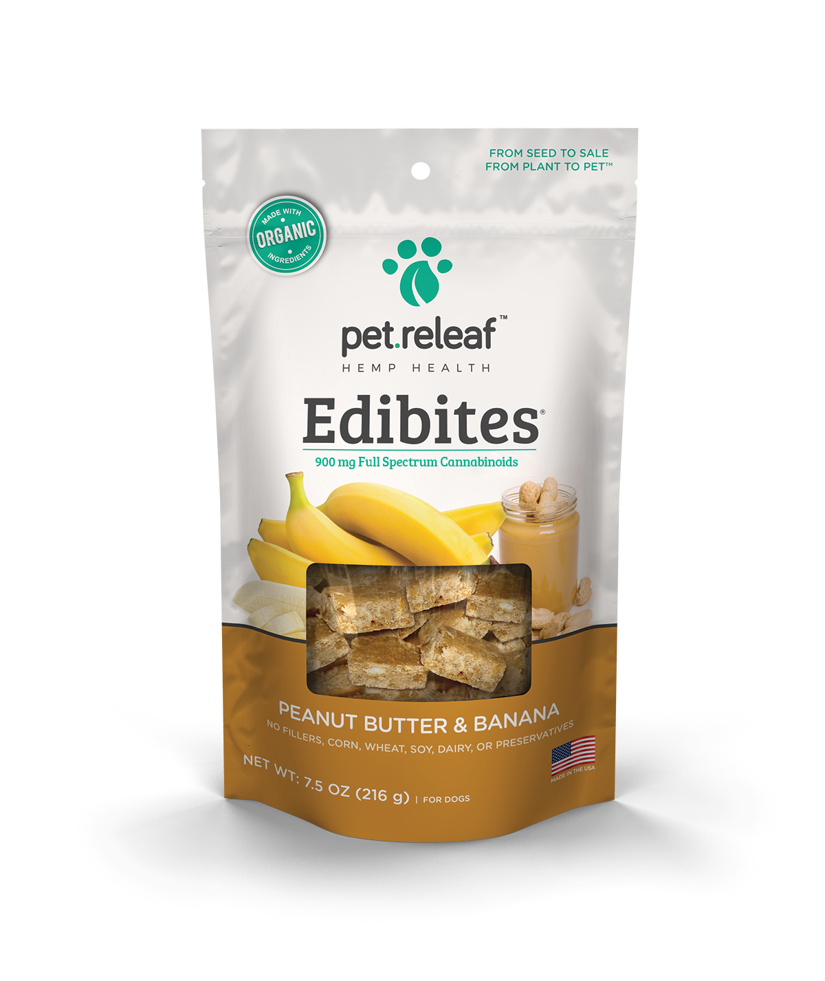 Pet Releaf CBD Dog Treats – Small Breed Peanut Butter & Banana - Plenty Pharma