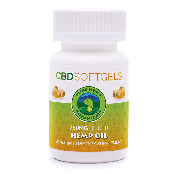 Pure Hemp CBD Oil Softgels - 750mg - Plenty Pharma