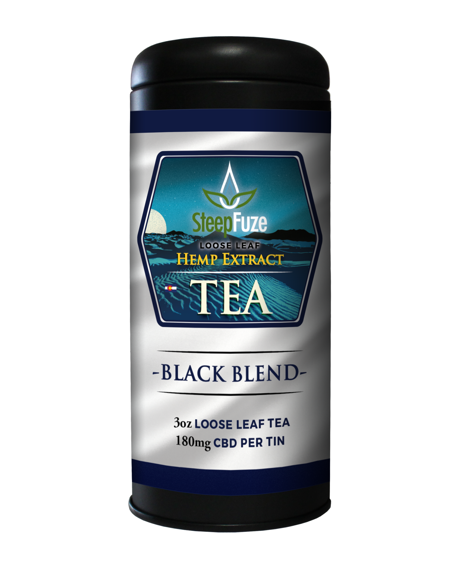 Black Blend – 3 oz. Loose Leaf Tea – 180 mg CBD - Plenty Pharma