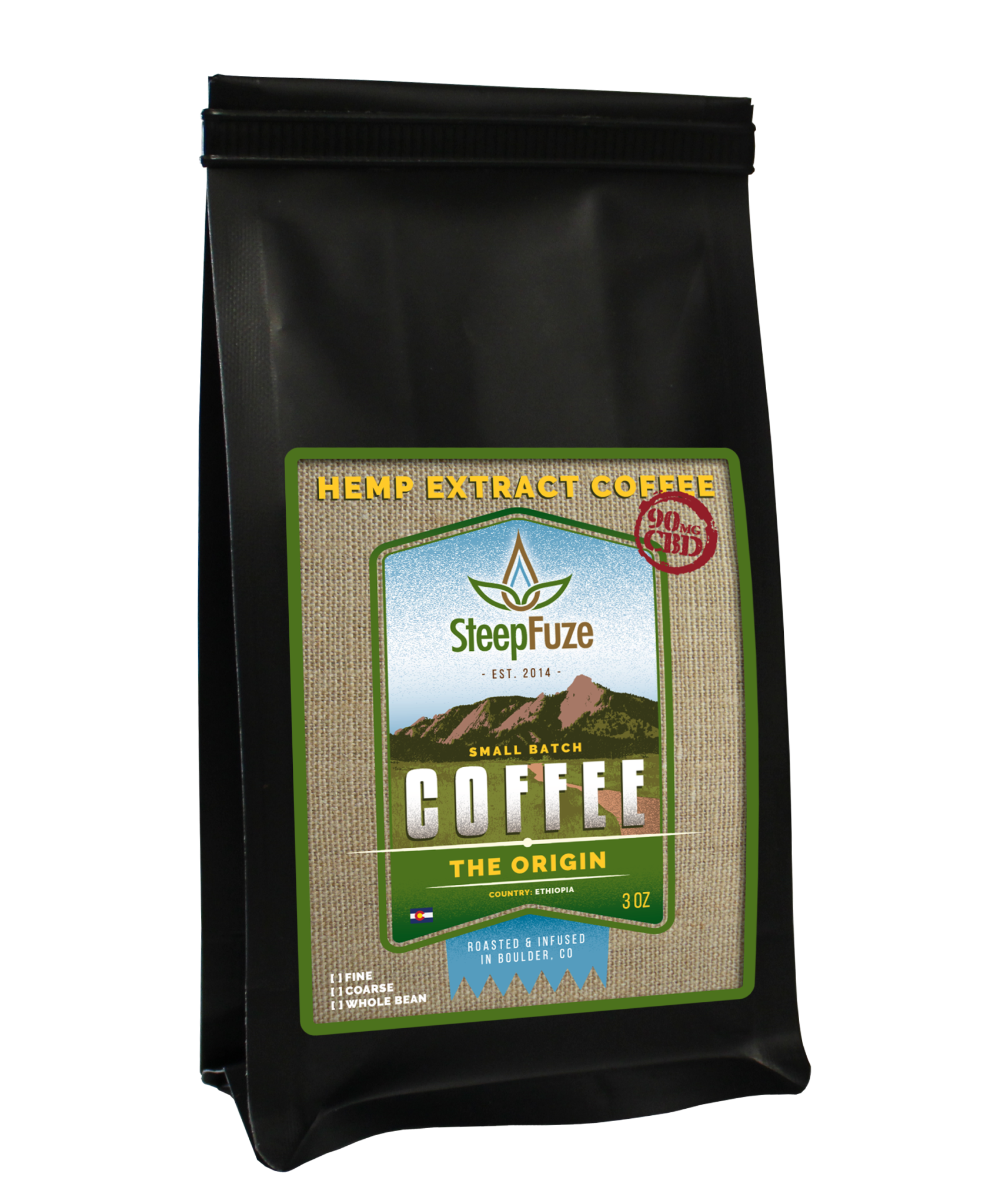 The Origin – 3 oz. Coffee – 90 mg CBD - Plenty Pharma