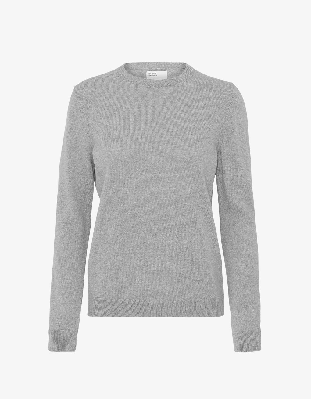 Colorful Standard Women Merino Wool Crew Women Merino Crewneck Heather Grey