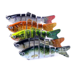 6 sections Multi Jointed Fishing Bass Lure HENGJIA