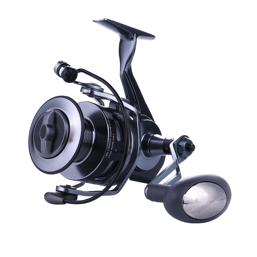 Water Resistant Metal Wheel Carbon with Larger Spool Spinning Fishing Reel
