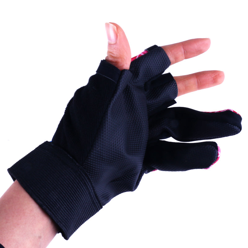 Waterproof 3 Cut Finger Anti-slip Fishing Gloves HENGJIA