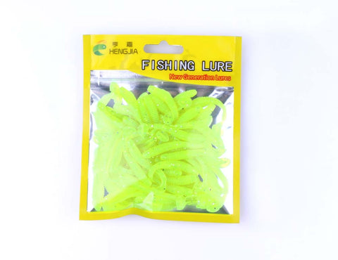 50pcs-Soft-Grubs-Bait-T-tailed-Earthworm-Maggots-Lures-HENGJIA